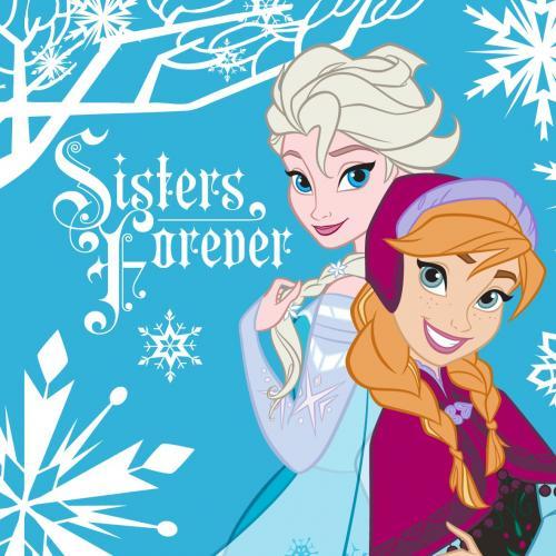 Детское полотенце Frozen Сестрички