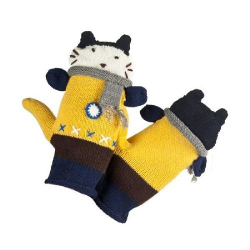 Women gloves with cat