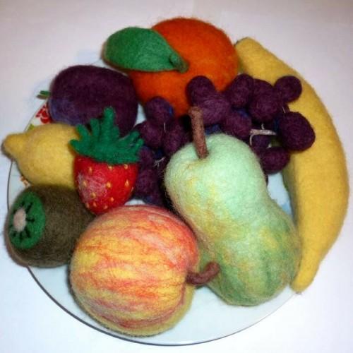 Образователна играчка от вълна - сет Плодове