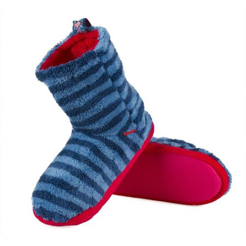 Slippers boots-blue stripes