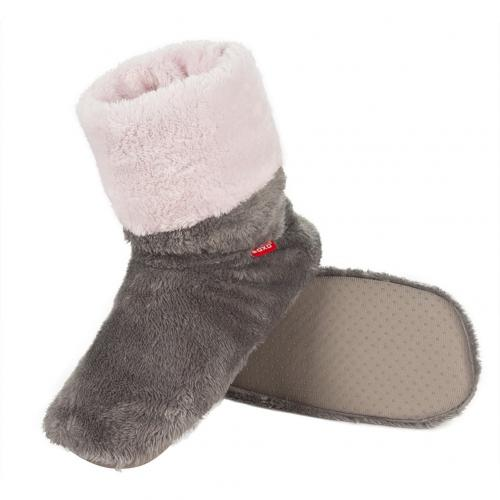 Gray home boots
