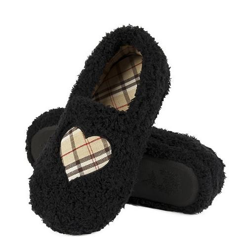 Women domestic fluffy slippers Heart