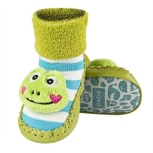 Baby shoes with leather soles Froggy