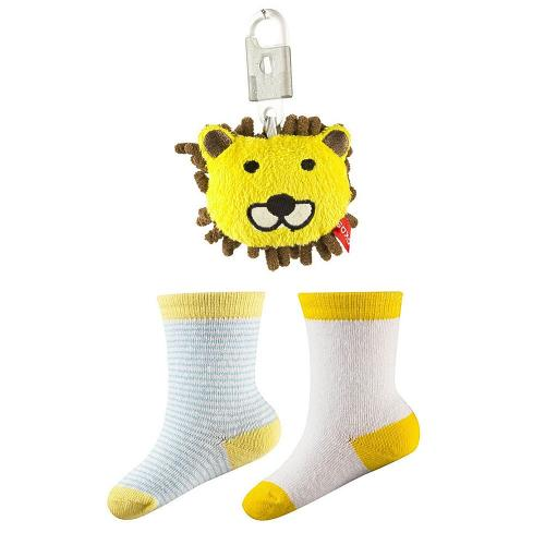 Baby socks and keychain pendant Leo