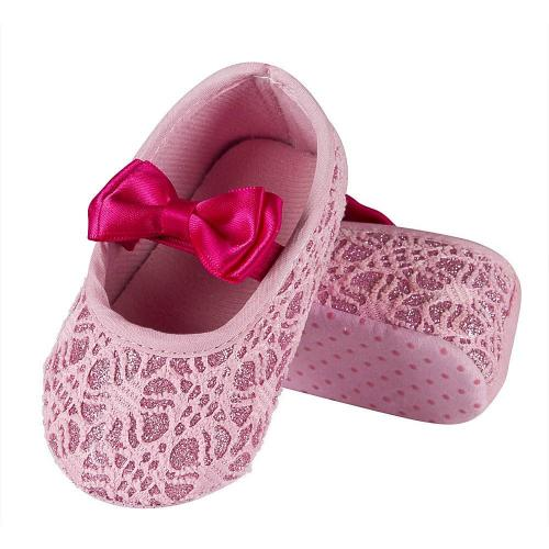 Baby ballerinas with ribbon Lace
