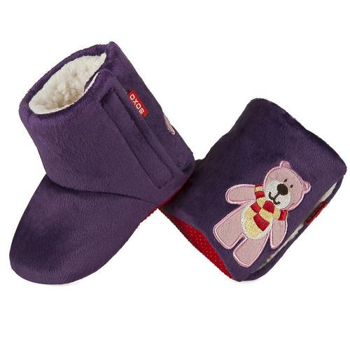 Baby warm slippers Bear with scarf