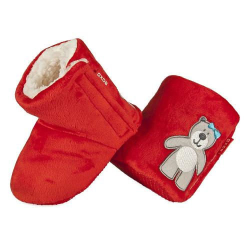 Baby warm slippers Bear with bow