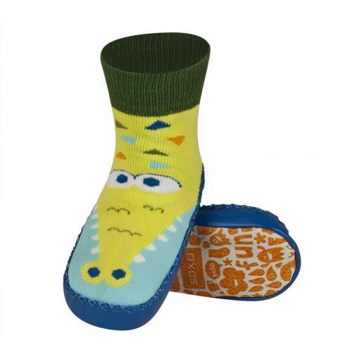 Детски чорапи с кожена подметка Крокодил