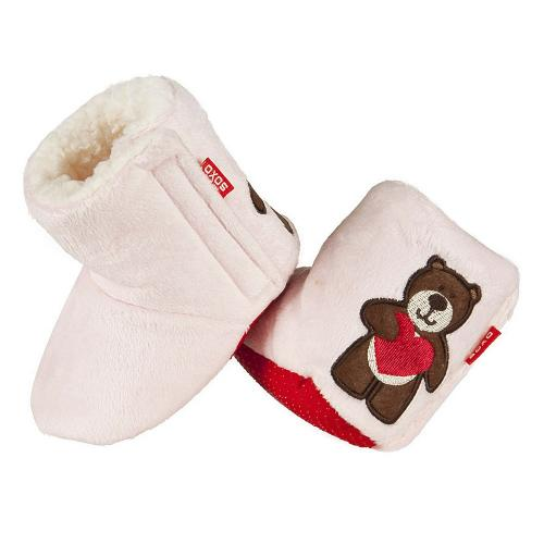 Baby slippers Bear and Heart